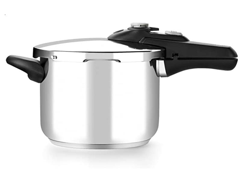 3. BRA RÁPIDA Vitesse Olla de 6 litros apta para todo tipo de cocinas incluida inducción, Acero Inoxidable, Plata, 22 cm